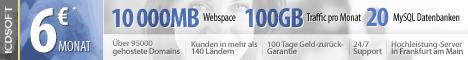 Webhosting von ICDSoft